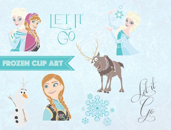 Frozen Clip Art Clipart Hand Drawn Sketch Queen Elsa Princess Anna
