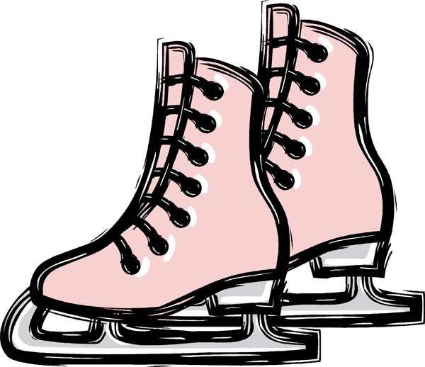 ice hockey skates clipart clipart suggest Ice Skating Silhouette Ice Skating Rink Clip Art