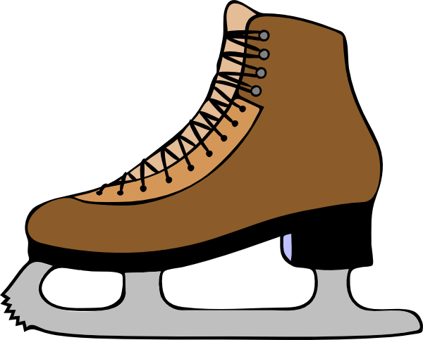 Clip Art Ice Skates Clipart figure skating clipart kid ice skate shoe clip art at clker com vector online royalty