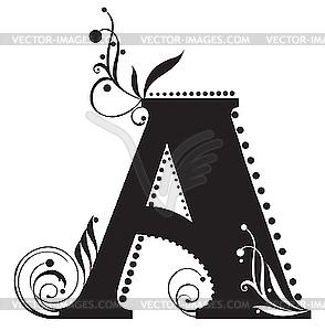 Initial Letter A   Vector Clip Art