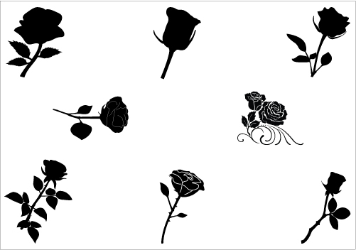 Rose Silhouette Clipart Clipart Kid