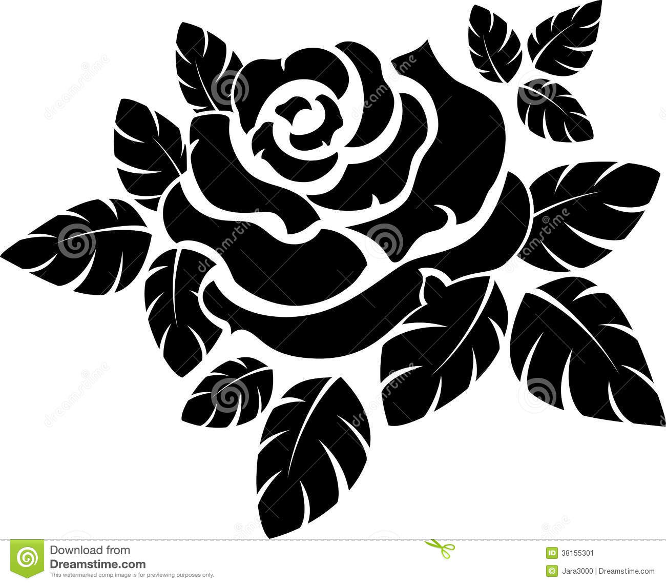 Rose Silhouette Stock Image   Image  38155301