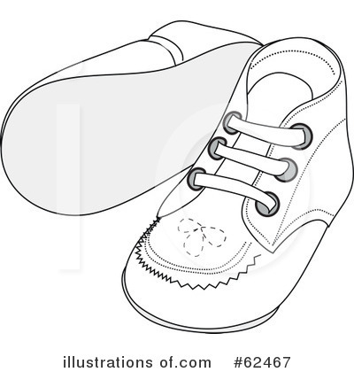 Royalty Free  Rf  Baby Shoes Clipart Illustration By Pams Clipart