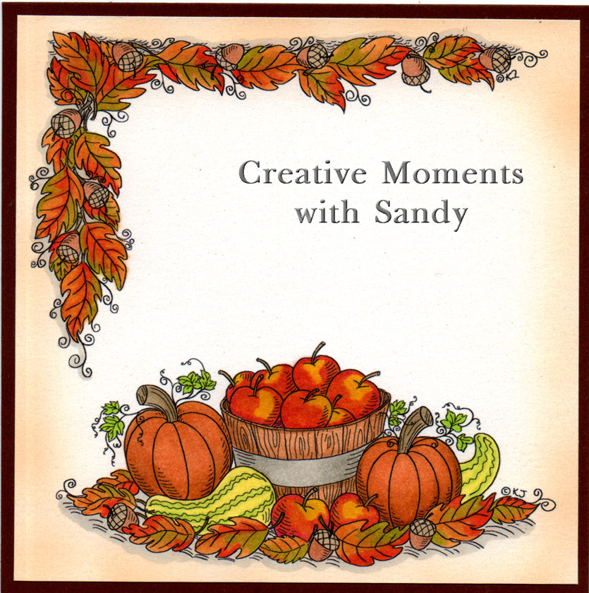 The Insert I Have Used Fall Border And Apples And Pumpkins   The