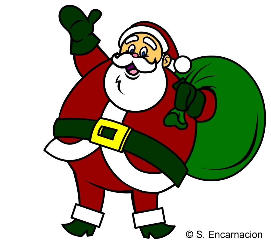 Santa Cartoon Clipart - Clipart Kid