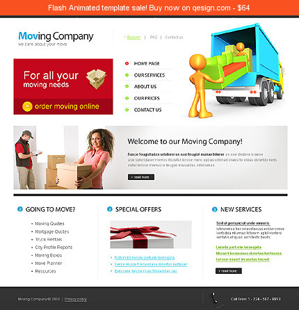 Also Known As Moving Company Website Template Transportation Website