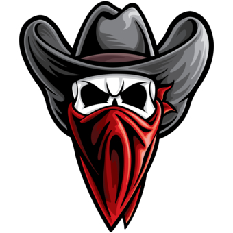 Outlaw Cowboy Skull Clipart - Clipart Kid Outlaw Cowboy Skull