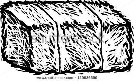 Clip art straw bales clipart clipart suggest for Hay coloring pages