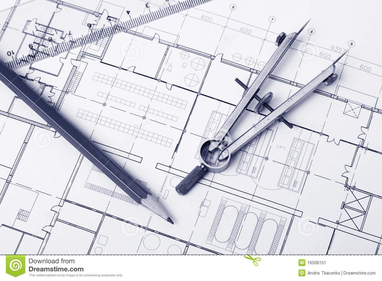Blueprint Background Stock Image   Image  16506151