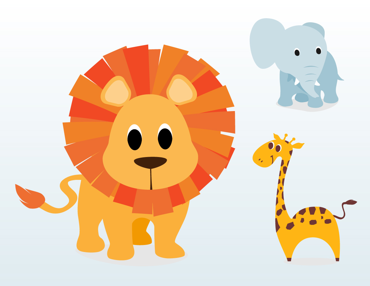 Baby animal cartoon pics free vector download 18582 Free