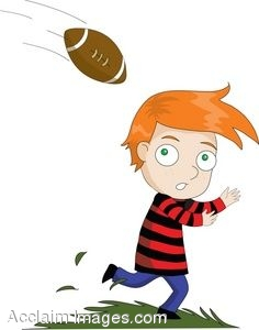 Catching A Football Clipart - Clipart Kid