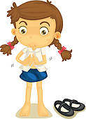 Child Getting Dressed For School Clipart A Girl In School Uniform