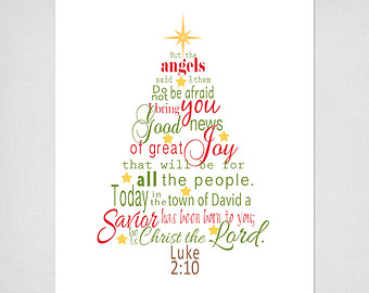 Christmas Tree Printable Scripture Art With Luke 2 Bible Verse In