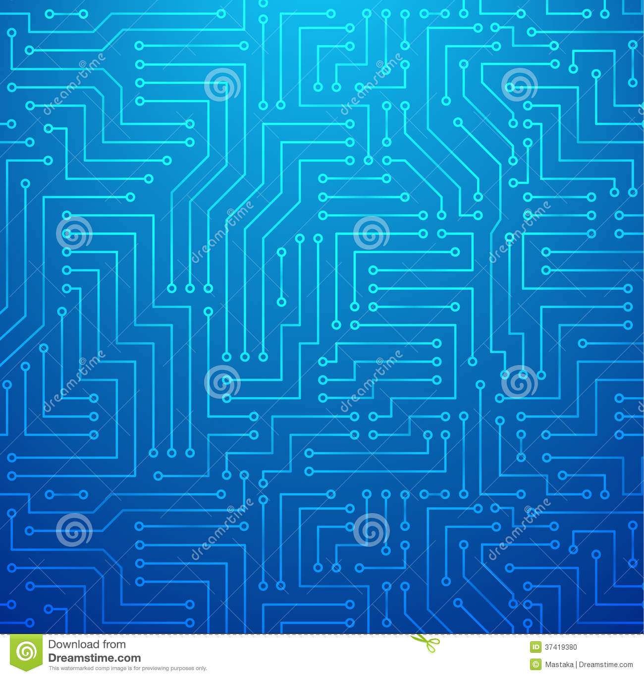 Circuit Board On A Blueprint Background Stock Vector Clipart Circuit