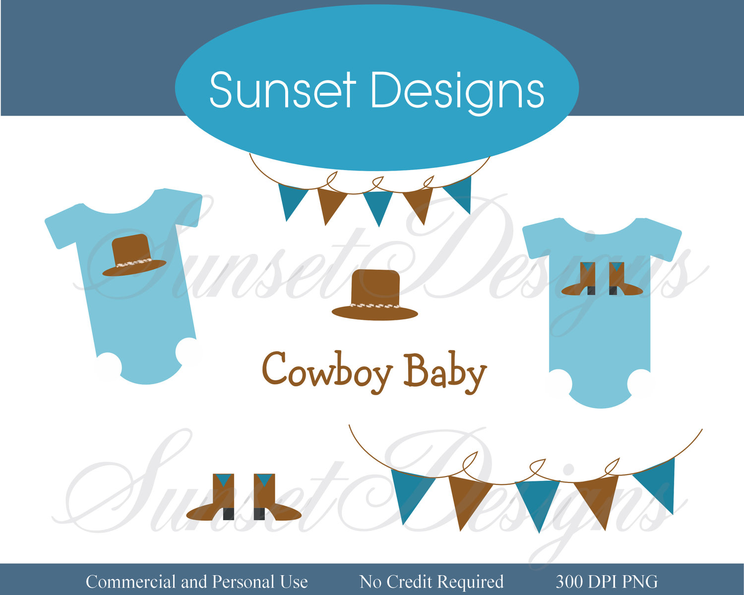 Cowboy Baby Shower Clipart Cowboy Baby Blue Clip Art 300