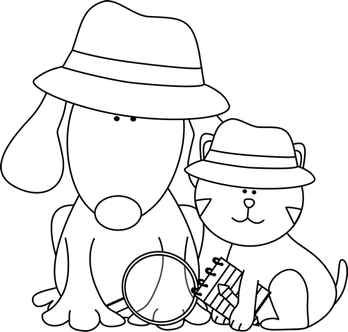 Cat And Dog Black And White Clipart - Clipart Kid