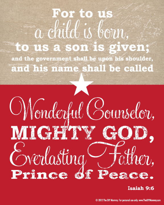 Free Christmas Bible Verse Wall Art Printable    Our Christmas Tree
