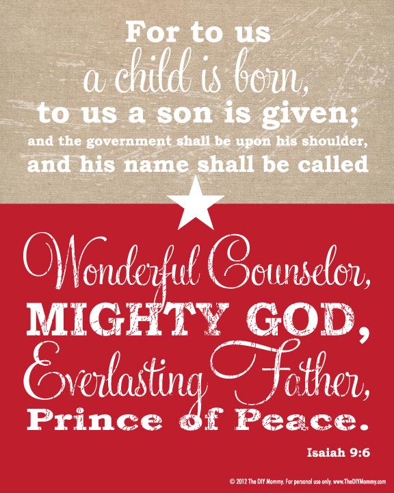 Free Christmas Bible Verse Wall Art Printable Our Christmas Tree