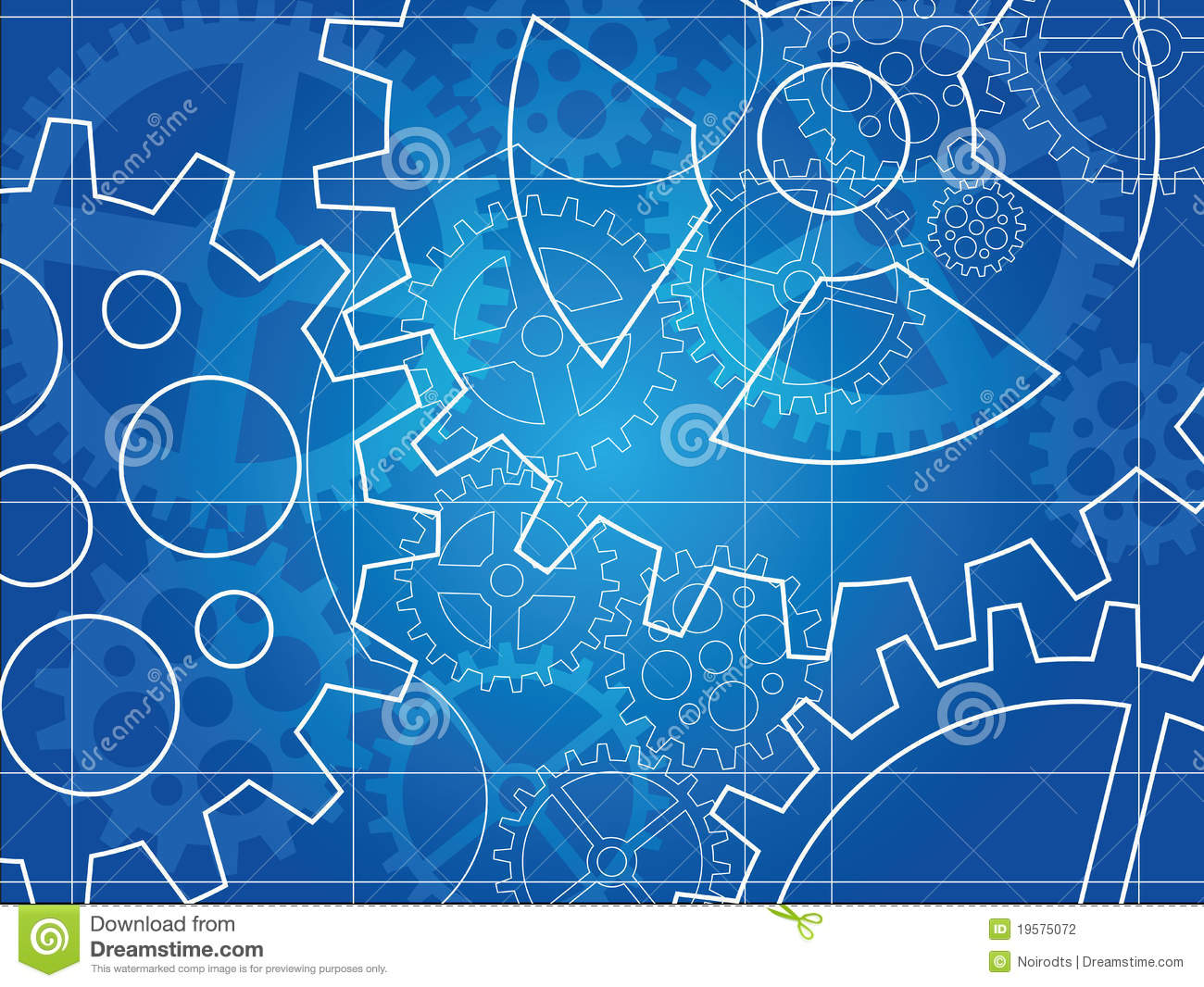Gear Blueprint Abstract Design Stock Photography   Image  19575072