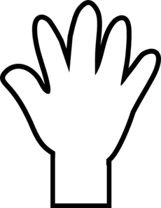Hand Pointing Clipart Black And White   Clipart Panda   Free Clipart