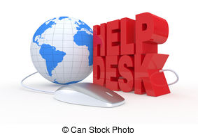 Help Desk   The Text  Help Desk With A Computer Mouse