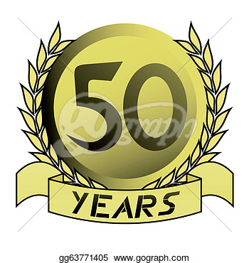Illustration   Creative Design Of 50th Gold Emblem  Clipart Gg63771405