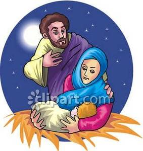 Mary And Baby Jesus Clipart - Clipart Kid