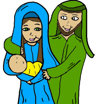 Mary Joseph And Baby Jesus Clipart  Christmas Clipart