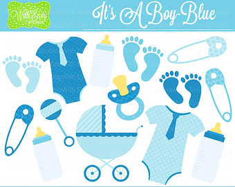 Off Baby Boy Clipart   Baby Shower Clipart   Blue Clip Art   Blue Baby