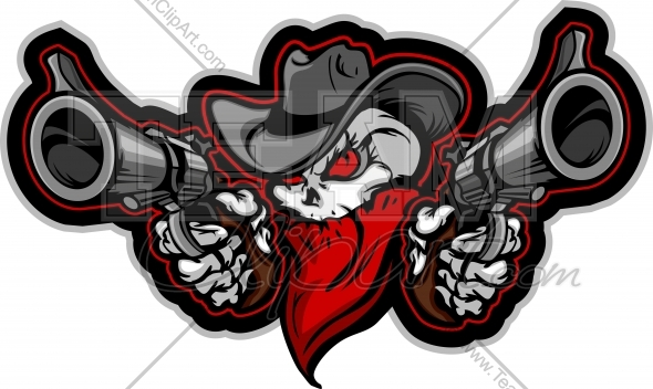 Outlaw Skull With Guns outlaw cowboy skull clipart - clipart kid Outlaw Cowboy Skull