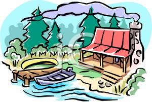 Lake House Clip Art Free