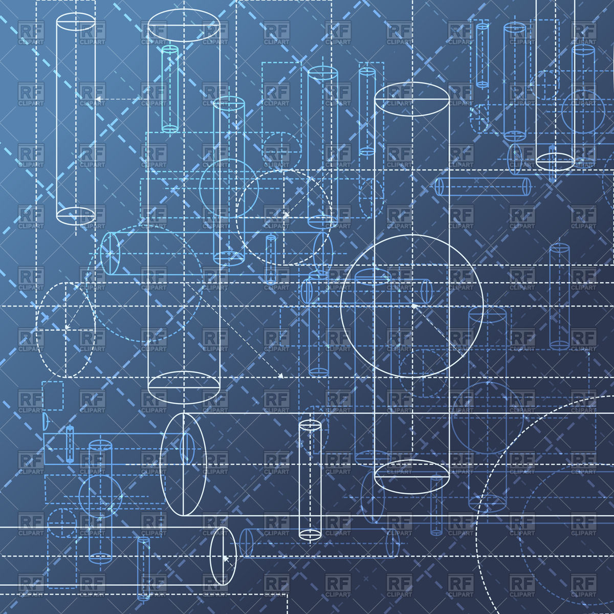Technical Blueprint Drawing   Abstract Geometry Background 45809