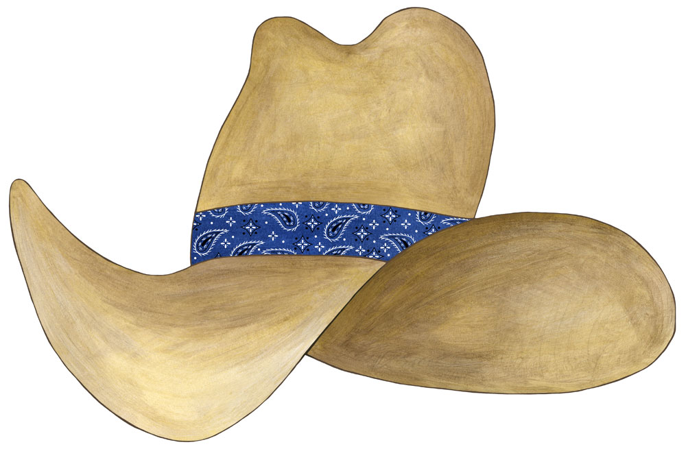 Wall About Fun  Cowboy Hat Wall Decals