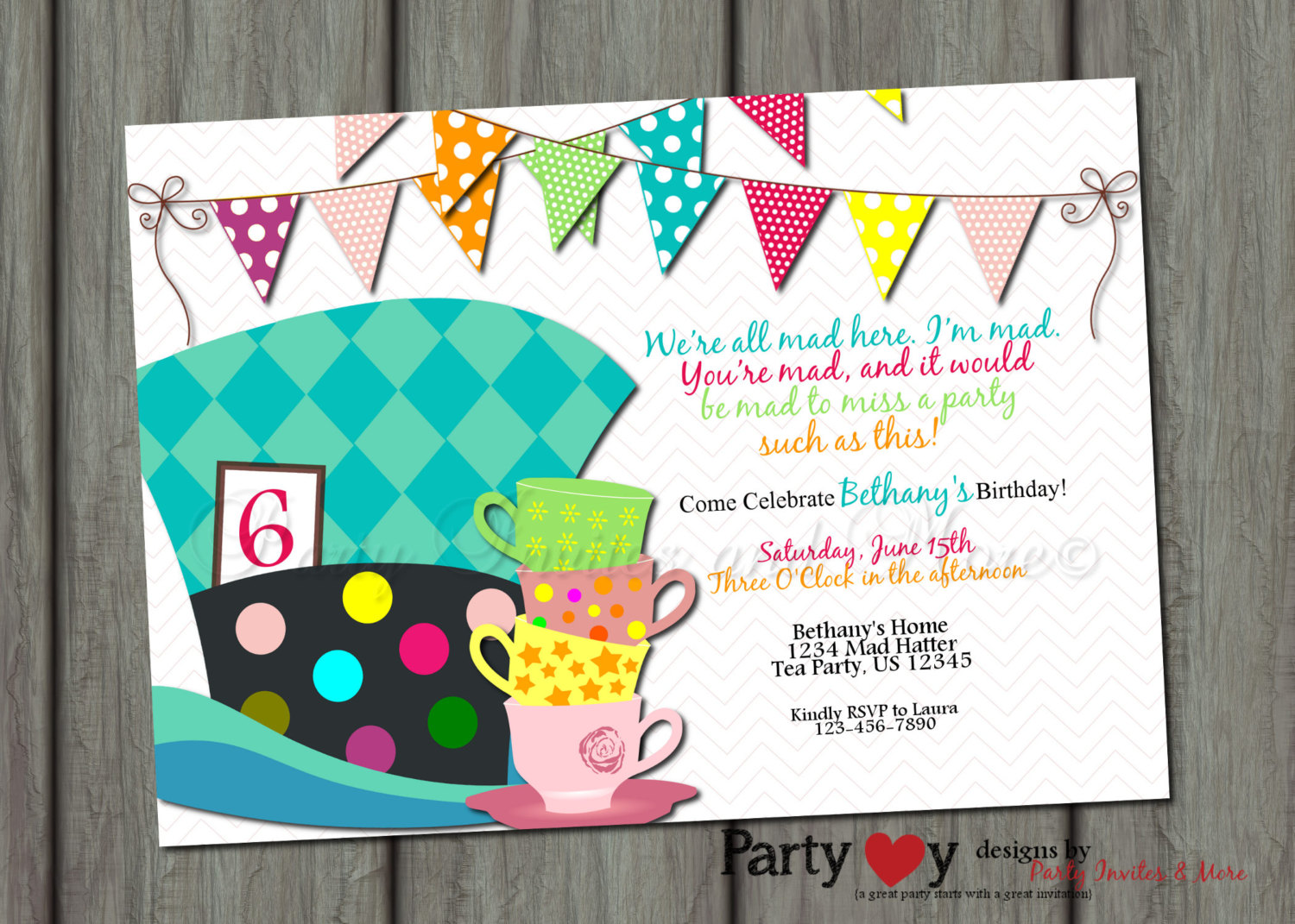 Alice In Wonderland Mad Hatter Tea Party Clip Art Mad Hatter Birthday