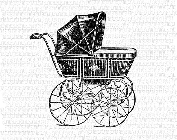 Vintage Baby Carriage Clipart - Clipart Kid