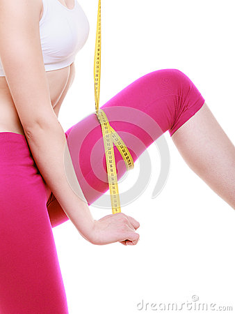 Body Care Diet Weight Loss Concept  Fitness Girl Sporty Smiling Woman