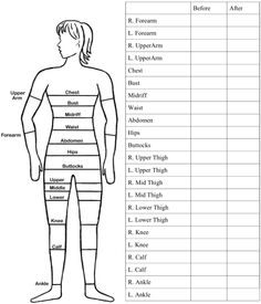 Body Measurement Chart On Pinterest   Fitness Tracker Weights And