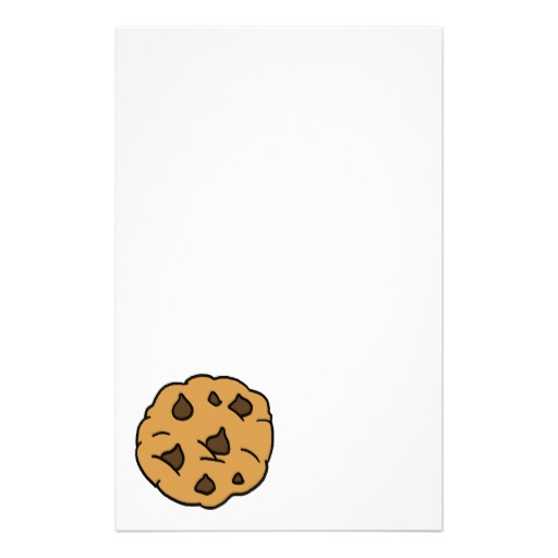 Cartoon Clipart Huge Chocolate Chip Cookie Dessert Stationery