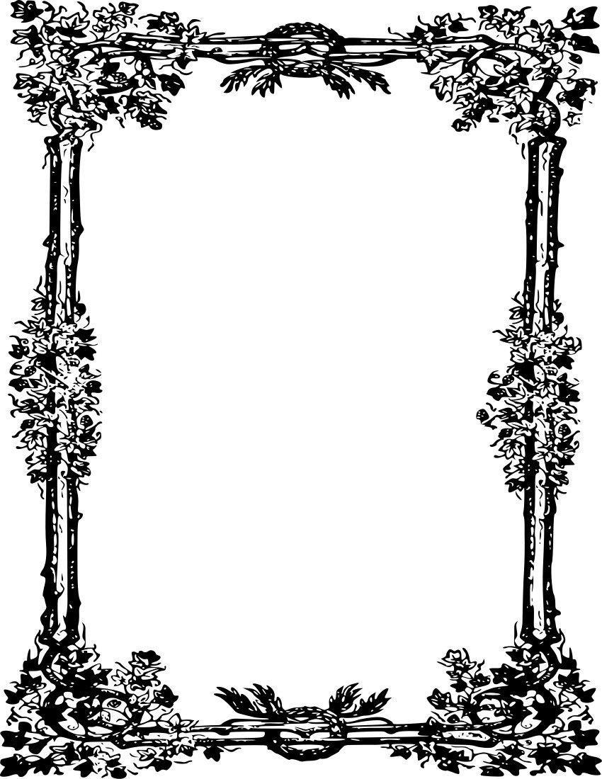 frame 118 page frames old ornate borders ornate frame 118 png html