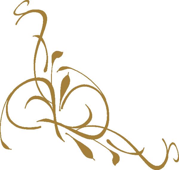 Gold Floral Design Clip Art At Clker Com Vector Clip Art Online