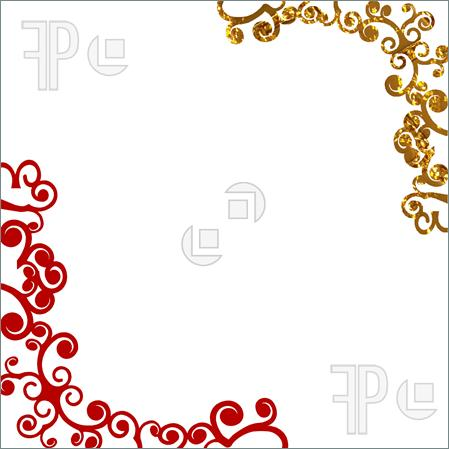 gold swirl frame clipart clipart suggest