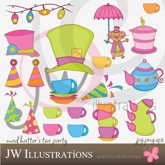 Mad Hatter Tea Party   Cute   Mad Hatter Theme   Pinterest