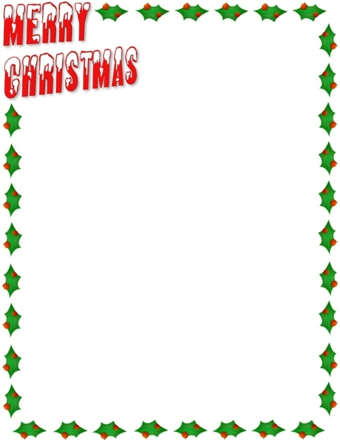Merry Christmas Clip Art Borders Merry
