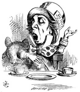 Of The Mad Hatter Engaging In Rhetoric With The Tea Party Guests
