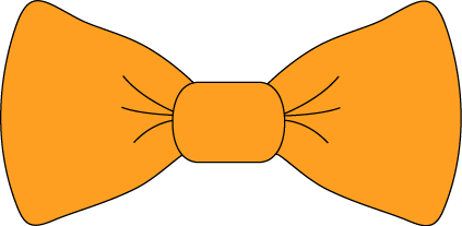 Orange Bow Tie Clip Art   Transparent Png Orange Bow Tie Image