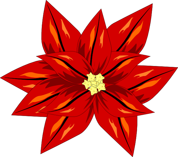 Poinsettia Clip Art At Clker Com   Vector Clip Art Online Royalty