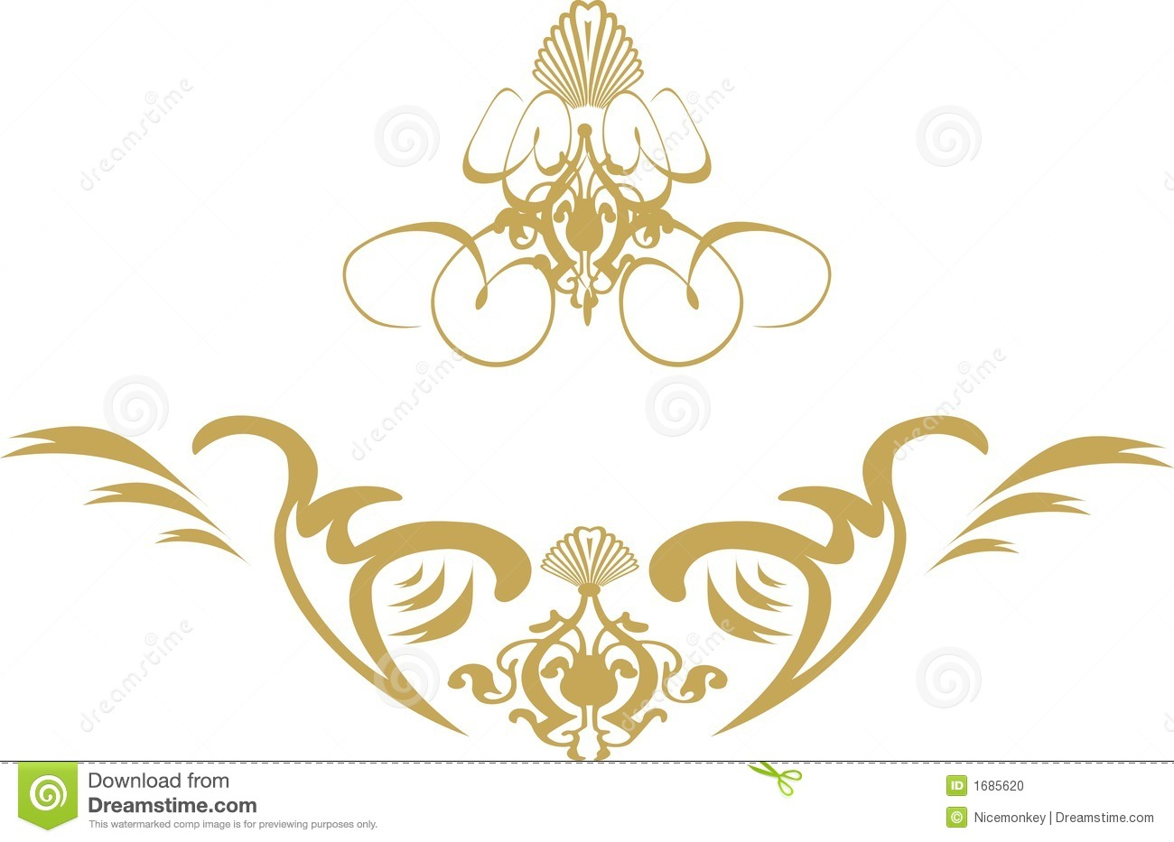 Gold Swirl Frame Clipart - Clipart Suggest