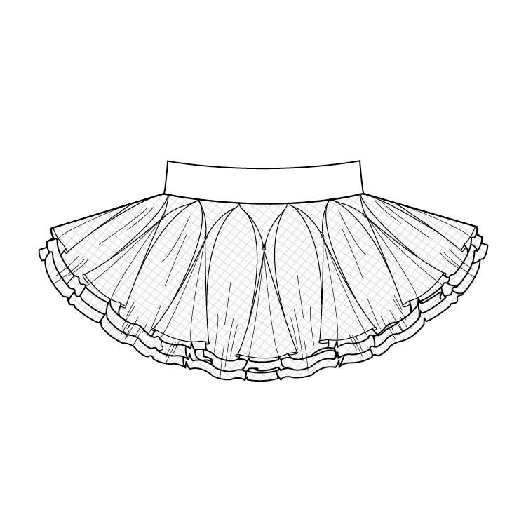 Ballerina Tutu Skirt Clipart - Clipart Suggest