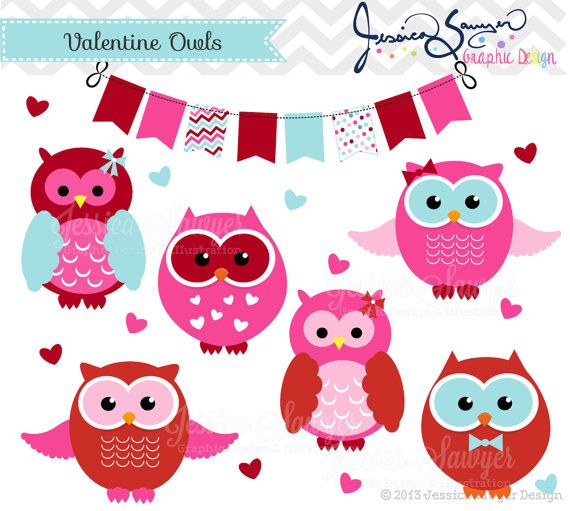 Valentine S Day Owl Clipart Valentine S Day Party Valentine S Day