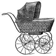 Vintage Baby Stroller Clip Art